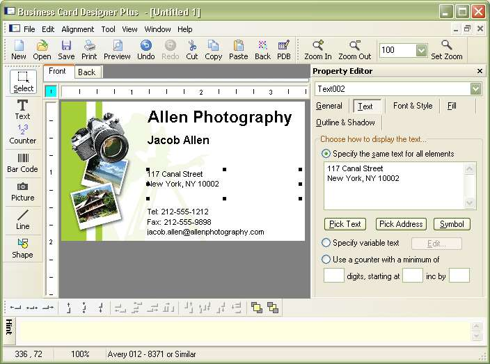 Business Card Designer Plus V10.1.0.0