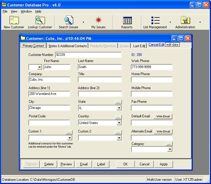 Customer Database Pro 2011