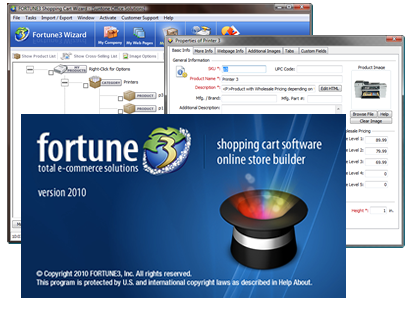 Fortune3 E Commerce and Shopping Cart Solutions Wizard