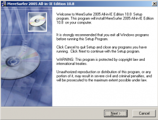 MereSurfer 2005 All In IE Edition 10.8