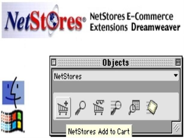 NetStores E commerce Shopping Cart for Dreamweaver