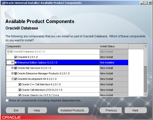 Oracle 9i Database Enterprise Edition