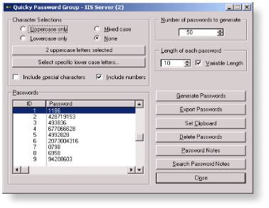 Quicky Password Generator 2