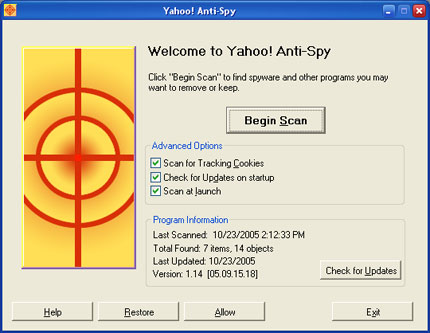 Yahoo Toolbar with Anti Spyware 2.3